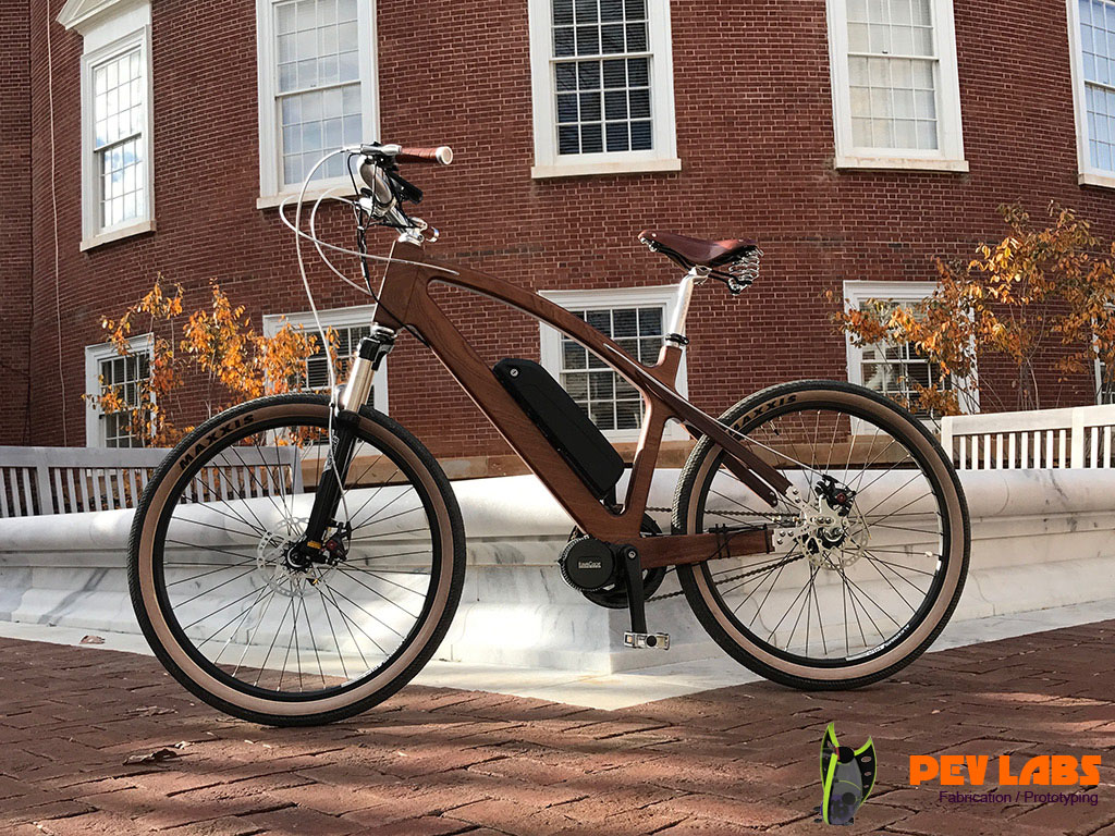Custom Built Electric Wooden Bike