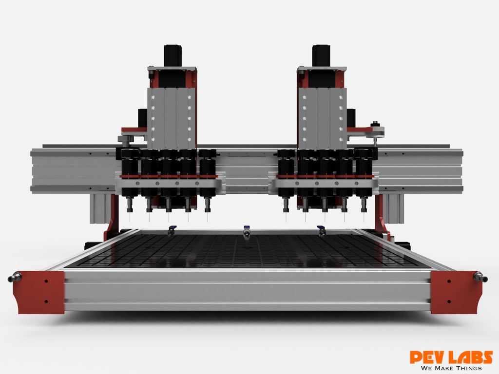 Multi-Head CNC Router Front View