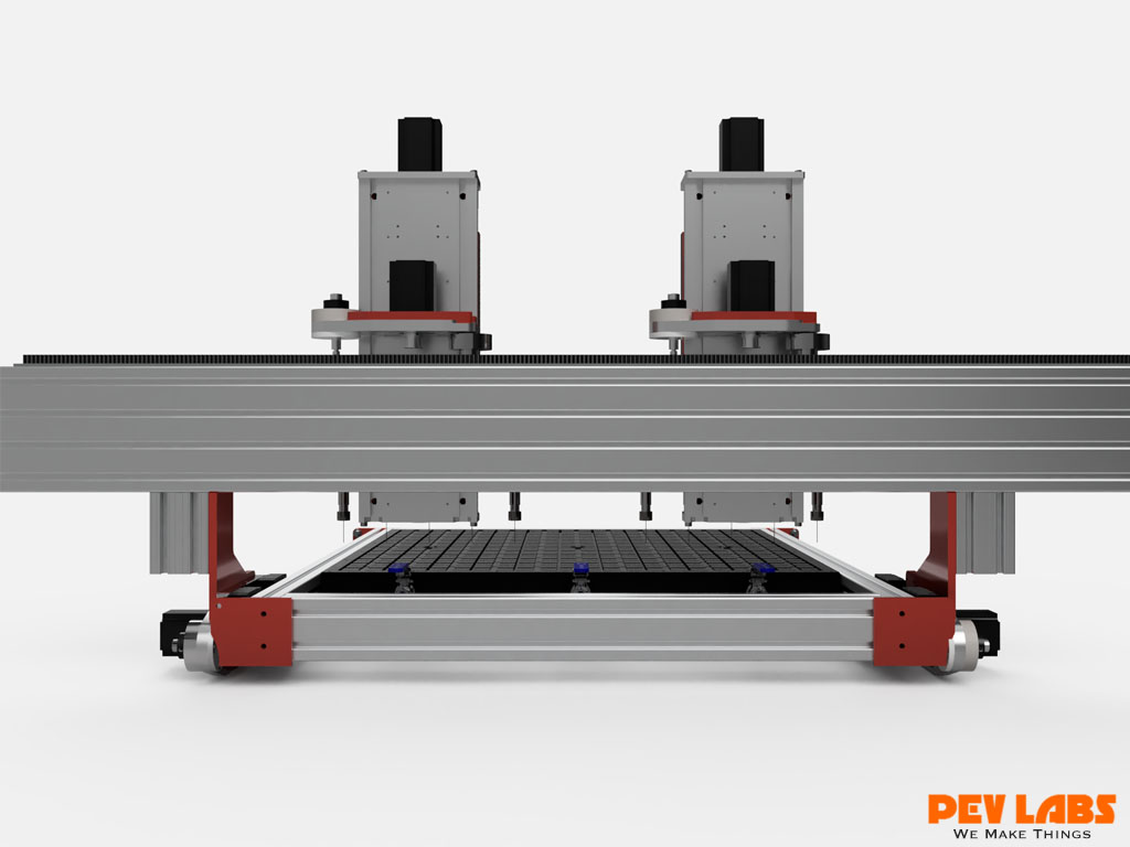Multi-Head CNC Router Rear View