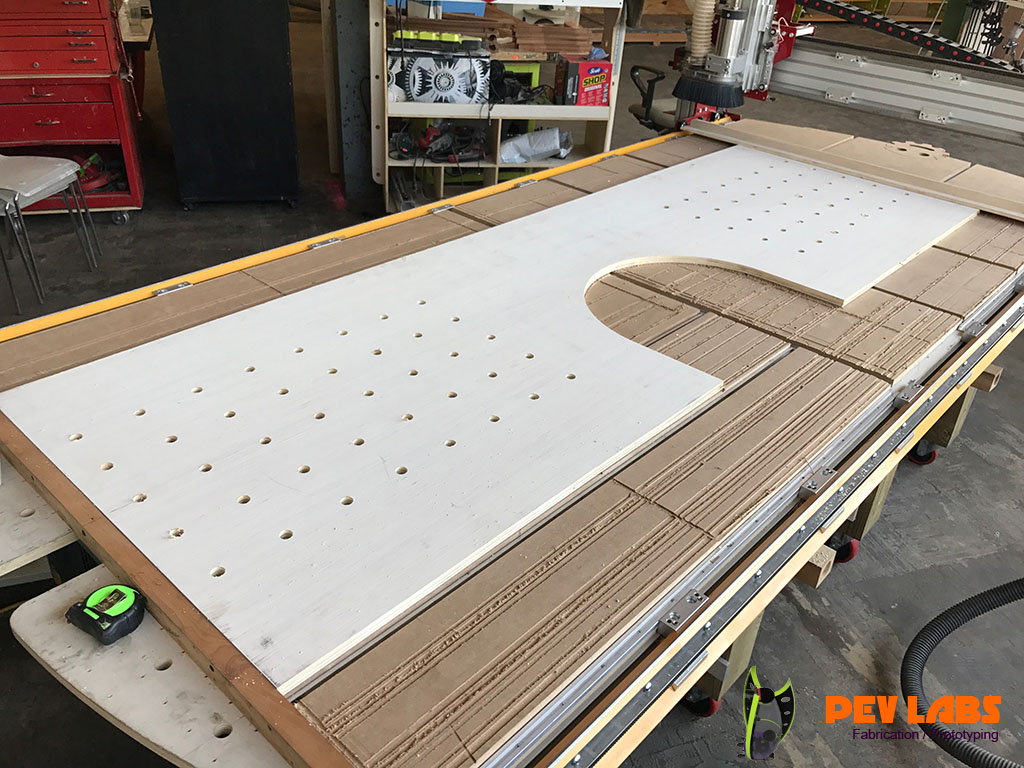 CNC Workbench Dog Holes