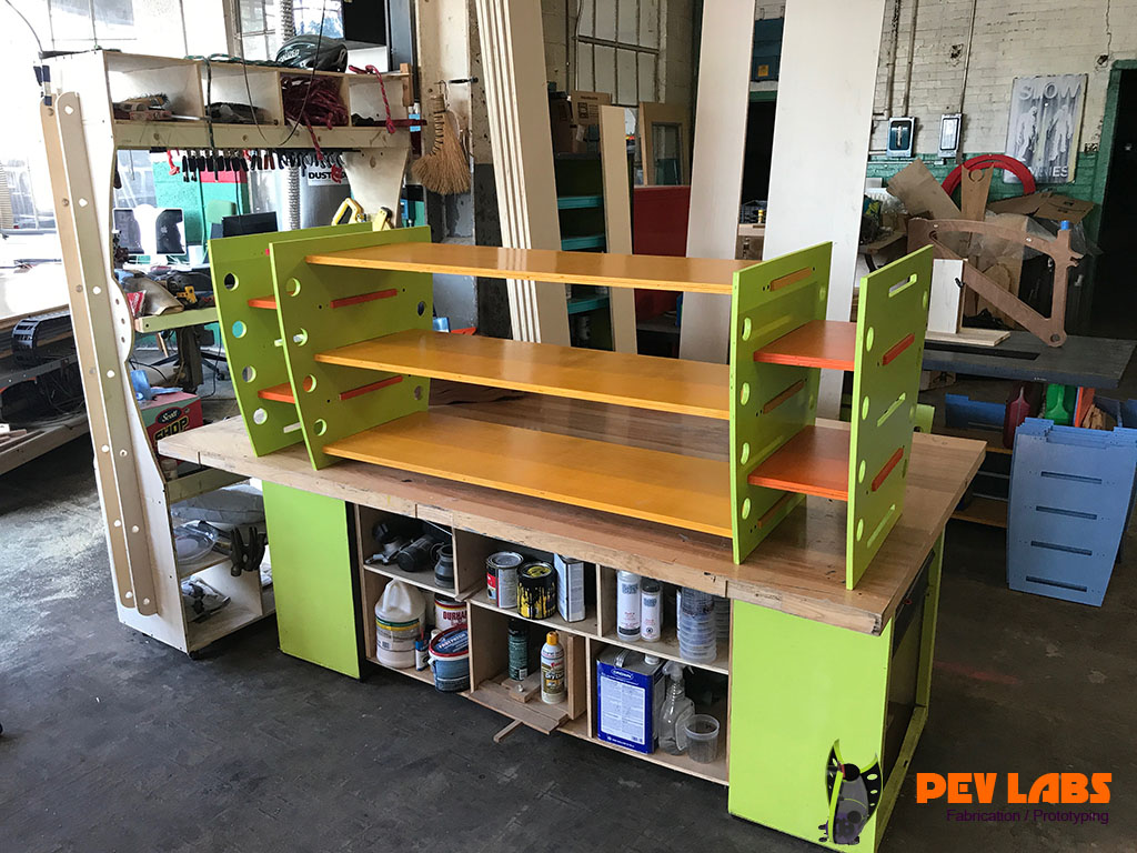 Flat-Pack Shelf Side Units Assembly