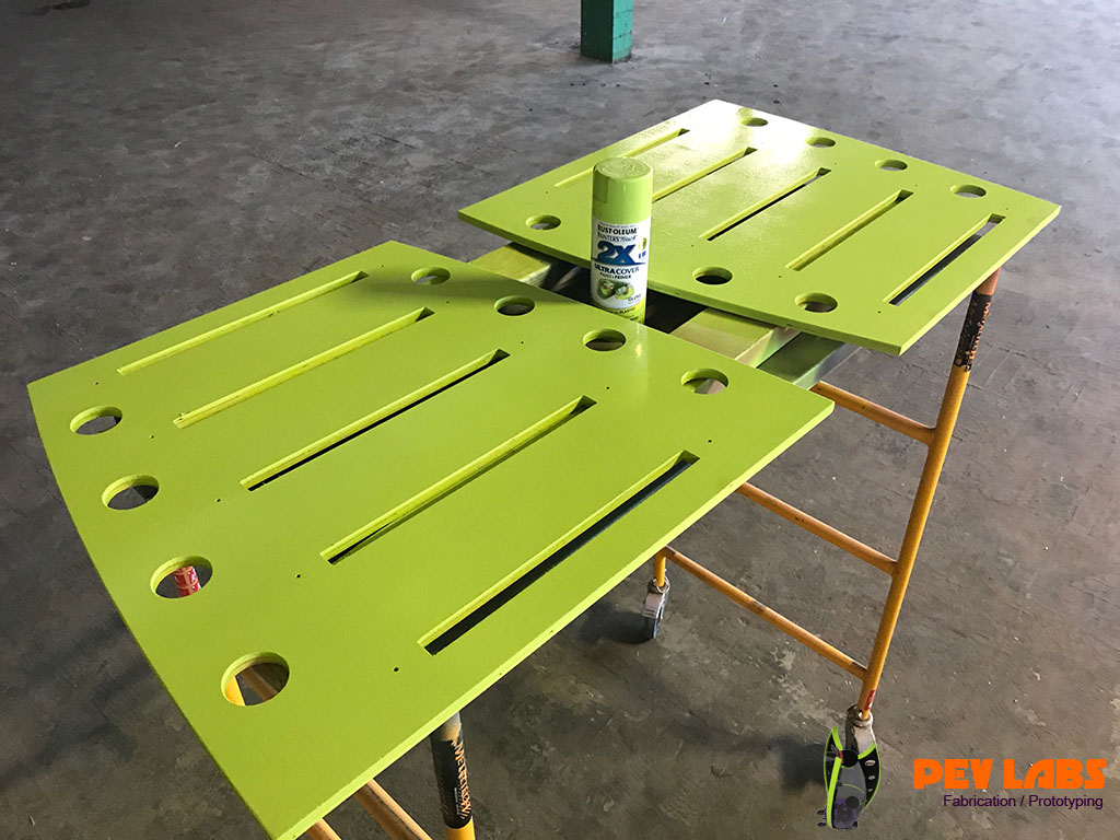 Flat-Pack Workbench Shelving Standards Painting