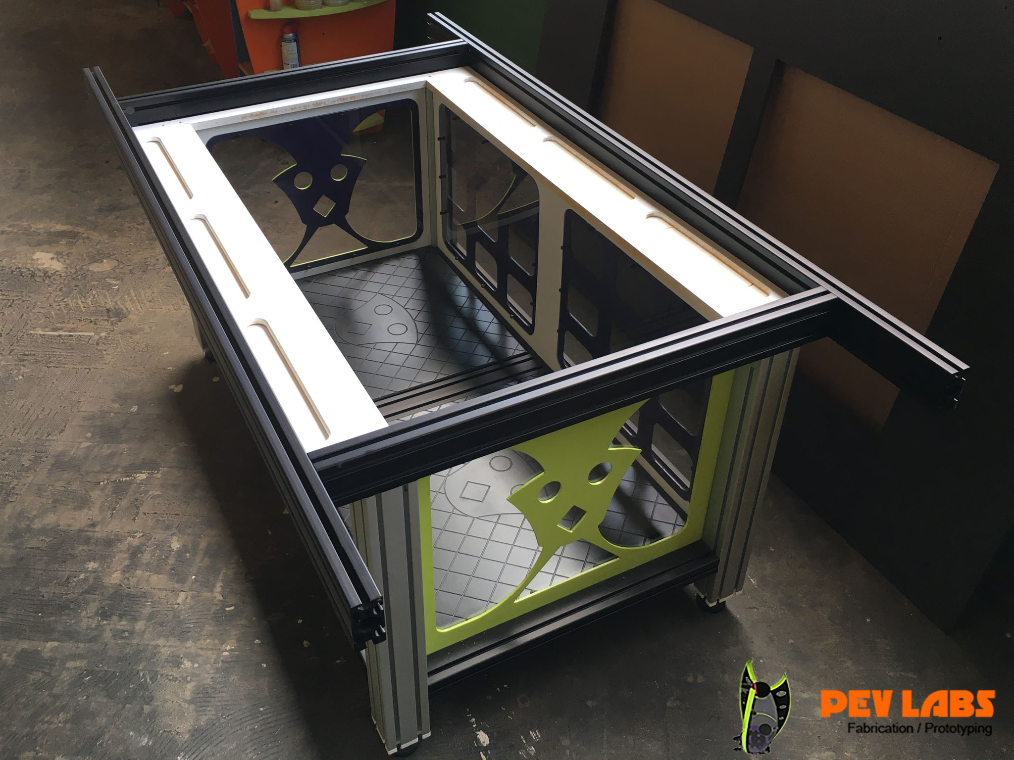 Aluminum Extrusion Custom Cabinet for Co2 Laser Build