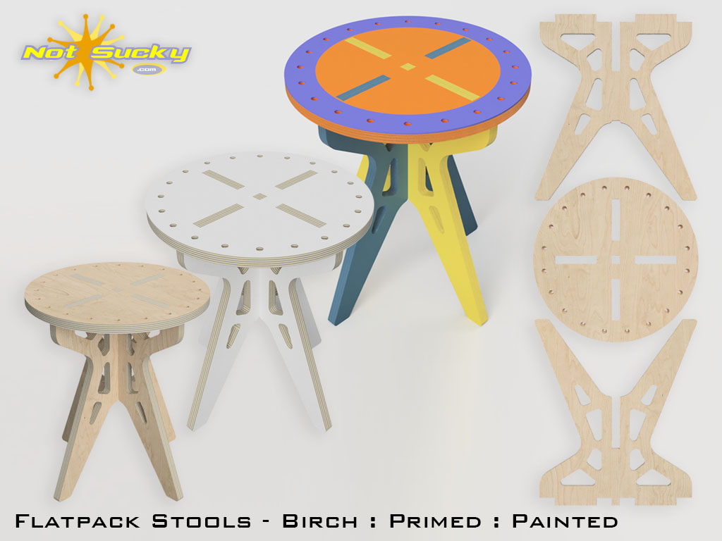 Flat Pack Stool Product Page