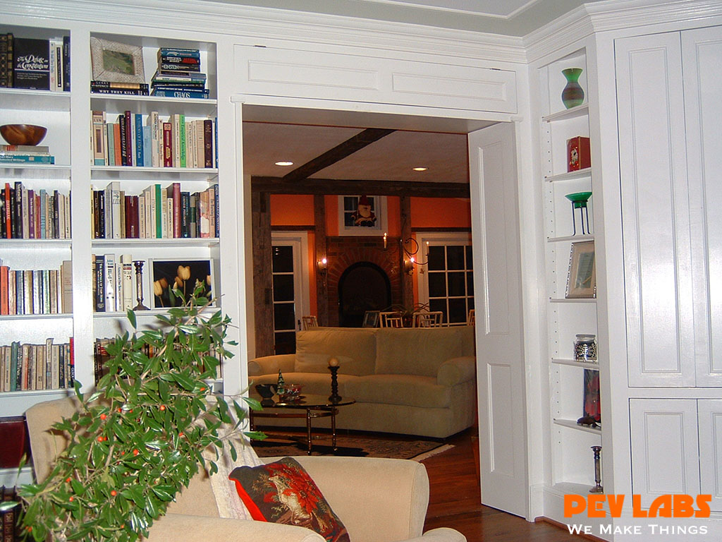 Custom Living Room Built-in Cabinets