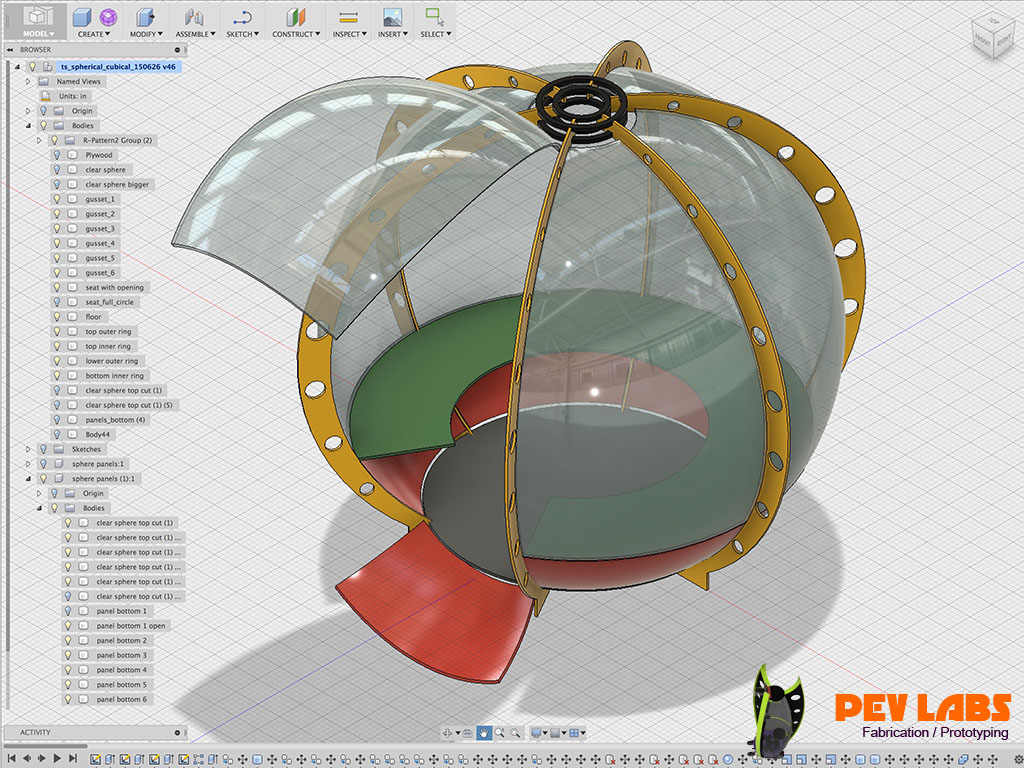Cad 3D Model for Spherical Vehicle Concept