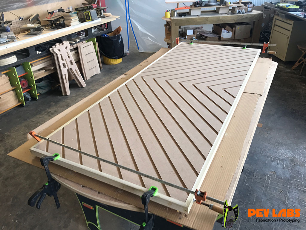 Chevron Door Edge Banded
