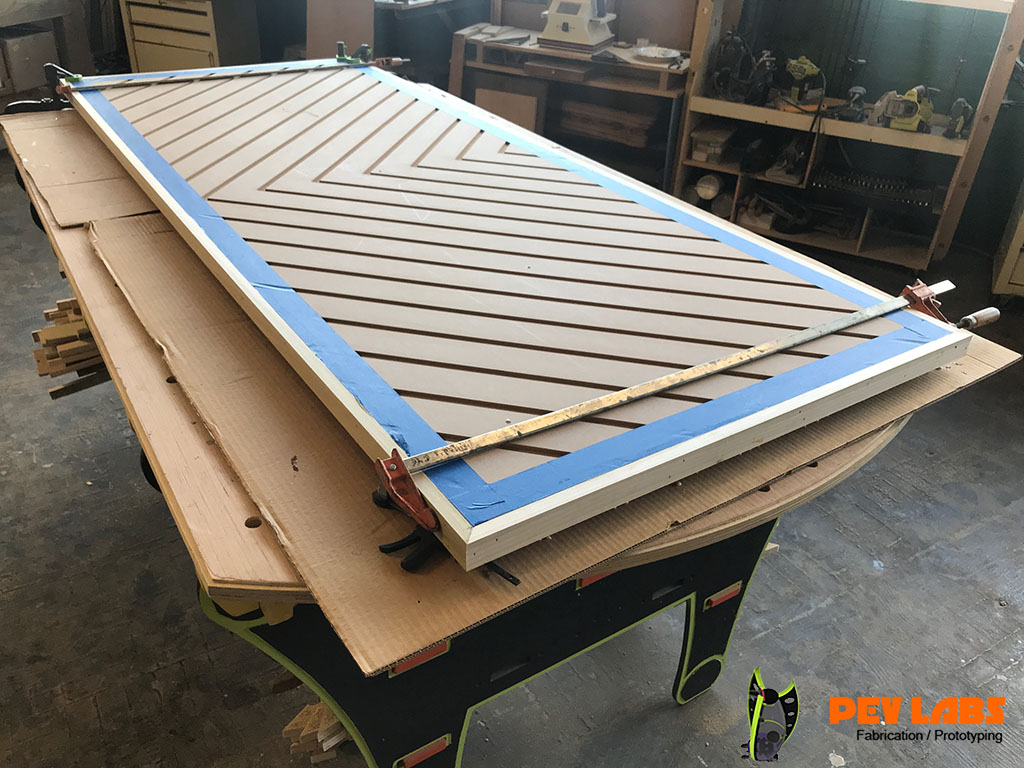 Chevron Door Edge Glueing