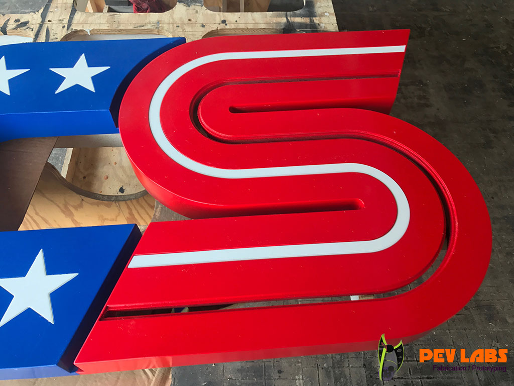 Sign Stripes Plastic Inlay