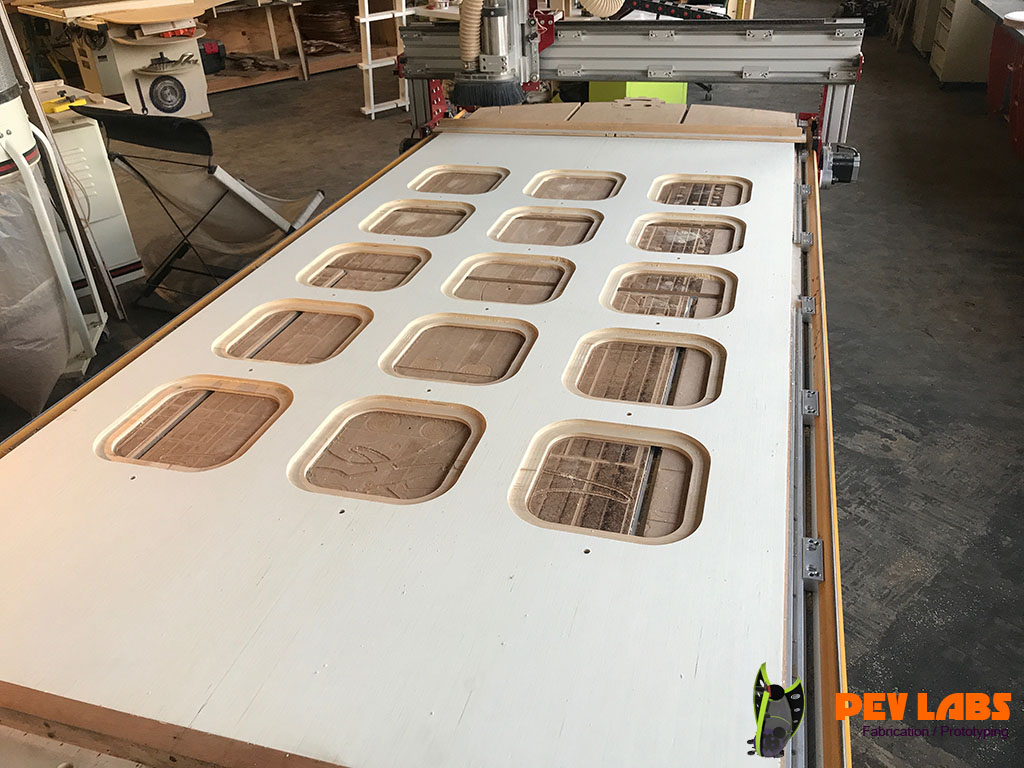 CNC Milling Cutting Table Tray Lips