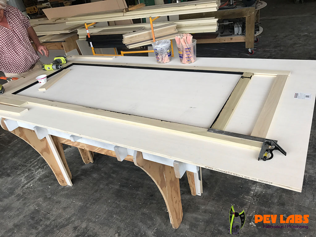 Display Case Side Panel Frame