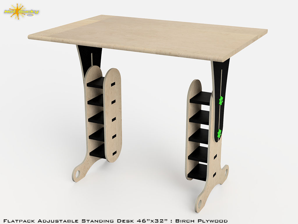 CAD Design Rendering of Standing Desk