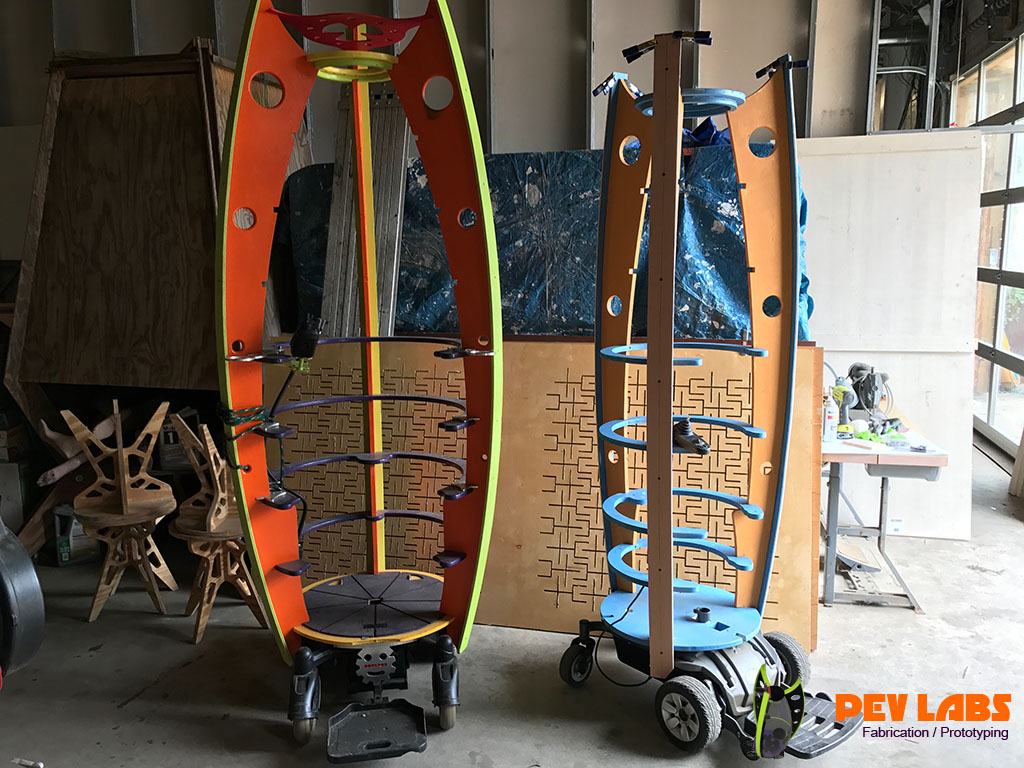 More About Our Dorkod and Peapod PEV's : DIY Personal Vertical Electric Vehicle