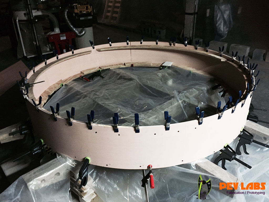 Fabrication of Clamping Gluing Curved Beam Lamination