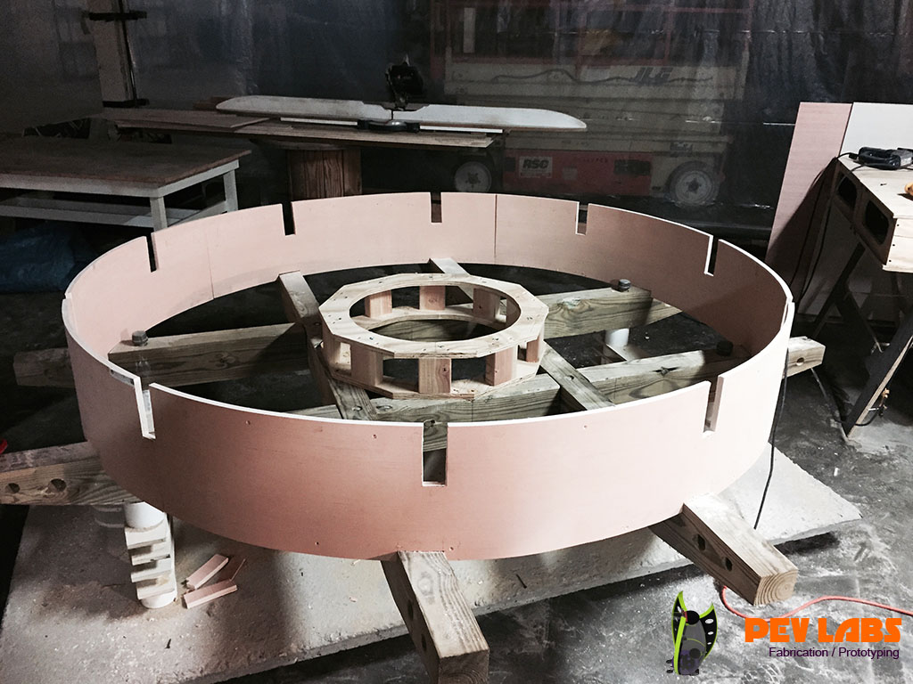 Fabrication of Plywood Curved Laminated Beam