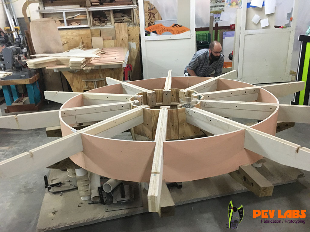 Fabrication of Really Big Gear Table Framing