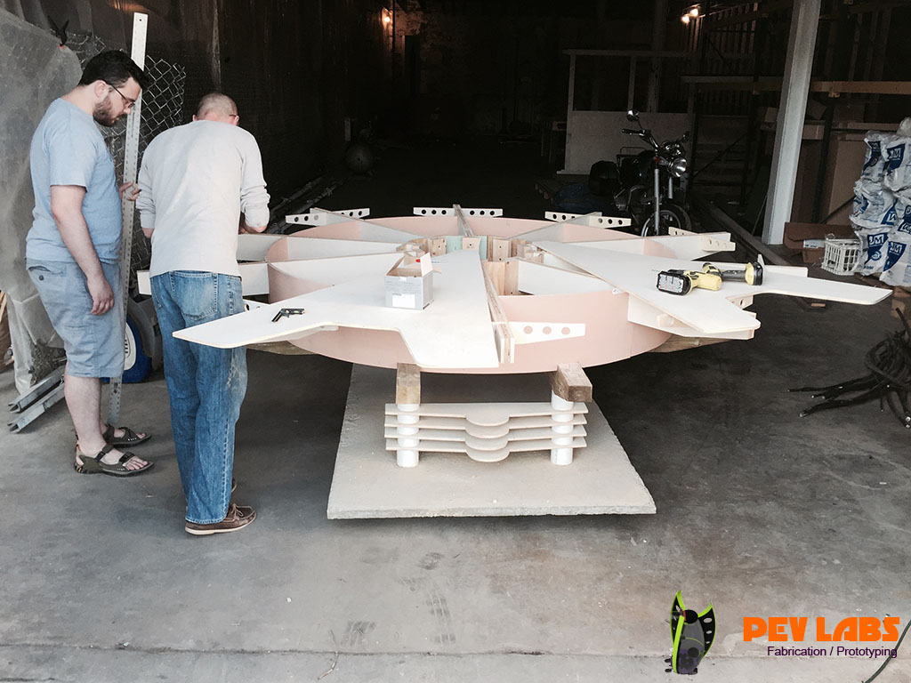 Fabrication of Table Top Assembly of Gear Furniture