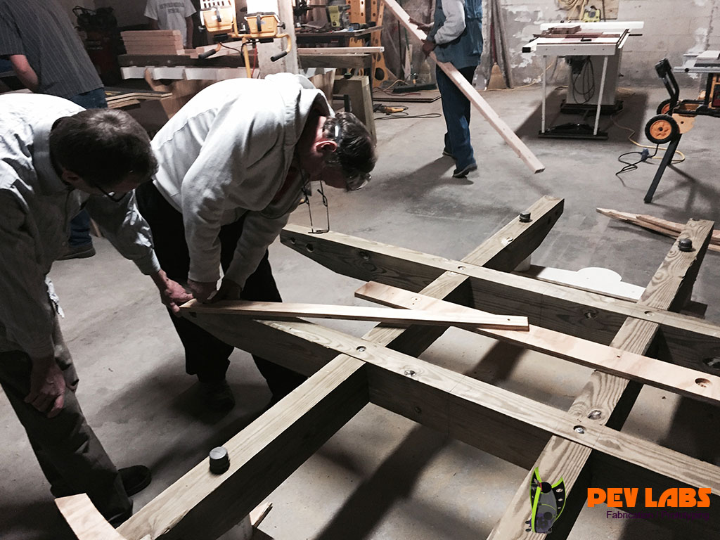 Fabrication of Timber Framing of Large Table