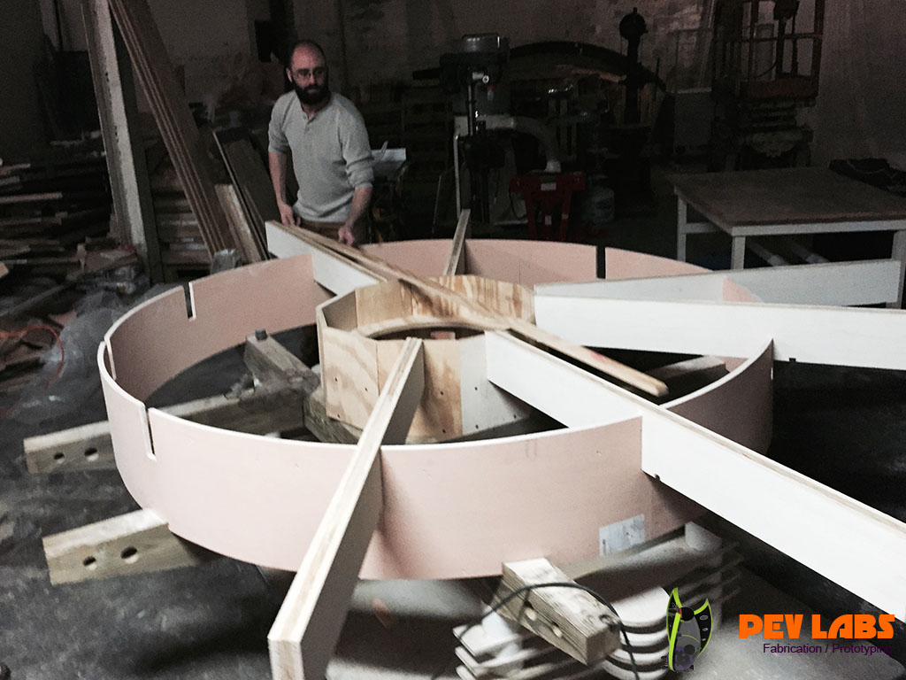 Fabrication of Top Supports in Circular Framing