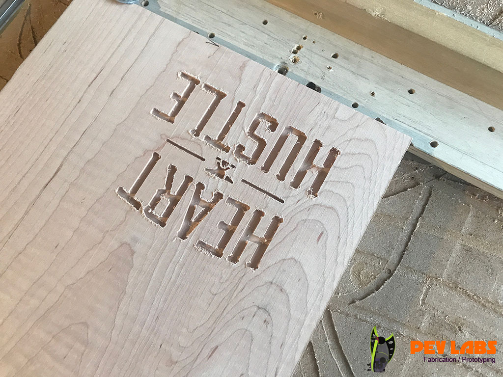 Engraved Text in Press Boards