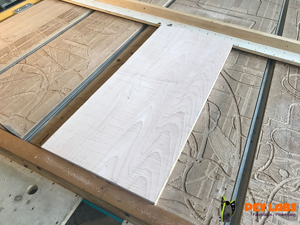 Solid Maple Blank for CNC Milling