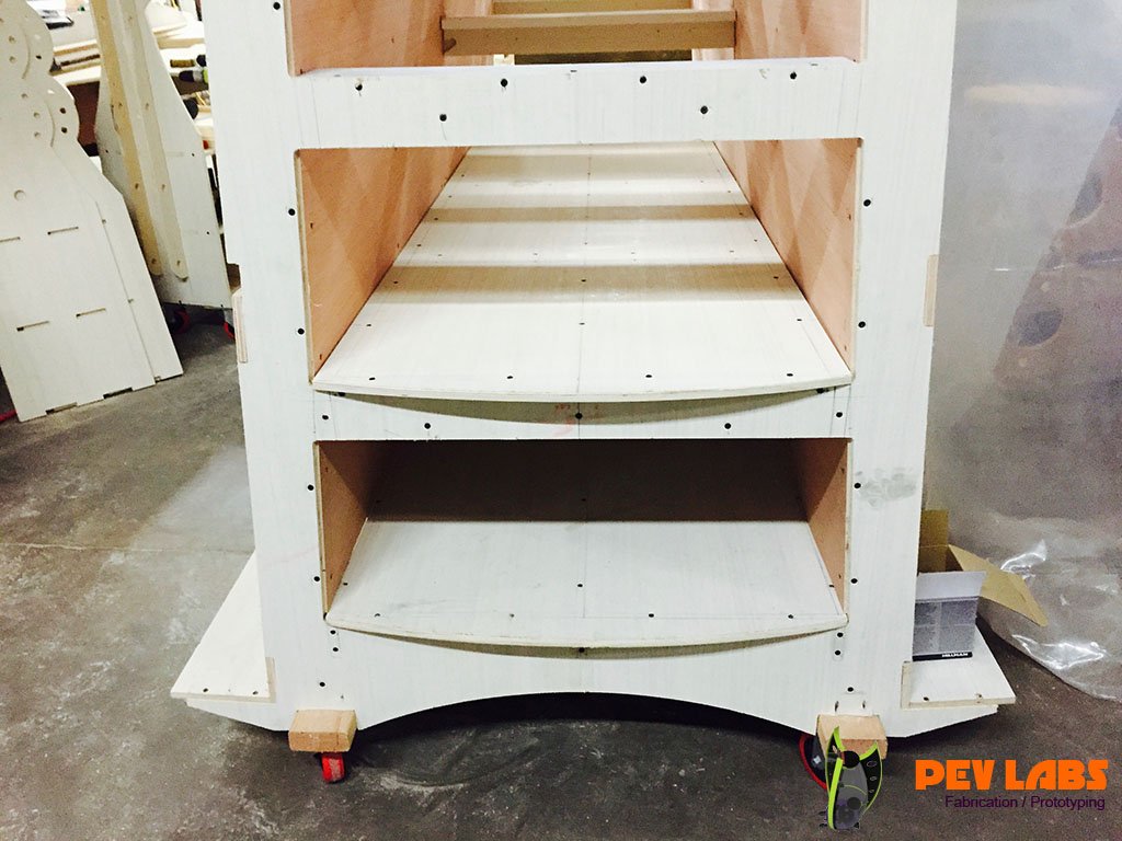 More About Flatpack Design Plywood Rack Inner Detail