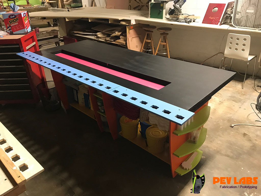 PEV Labs Silicon Mold Making and Resin Casting Production Table Completed