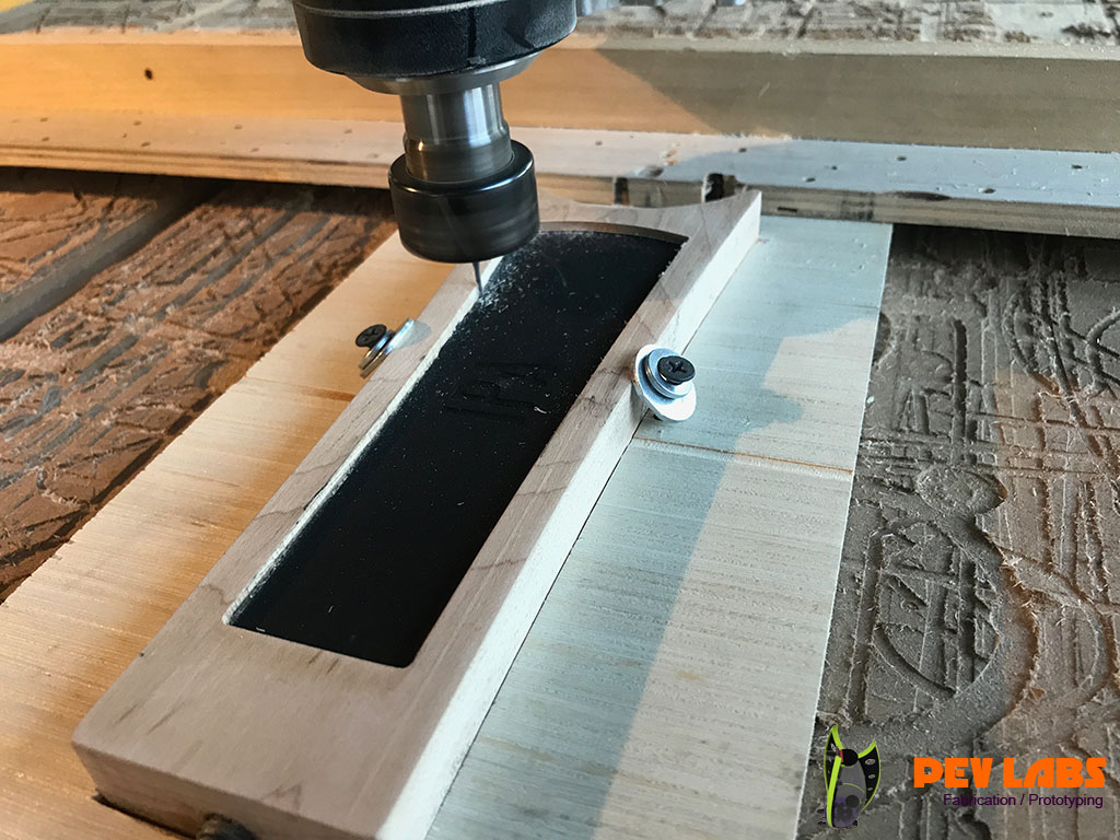 Using the CNC to Clean Up Excess Stain