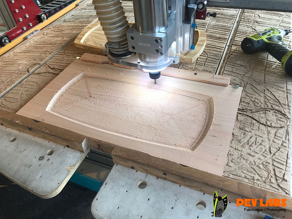 CNC Milling Wooden Serving Tray