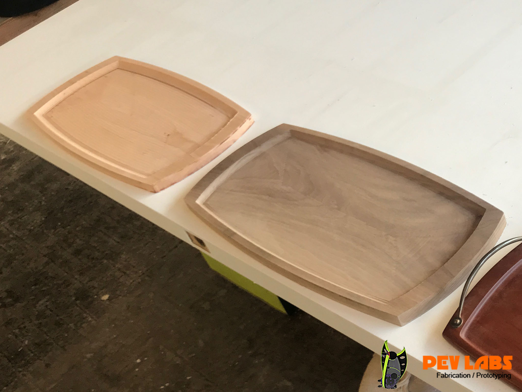 Milled Hardwood Trays