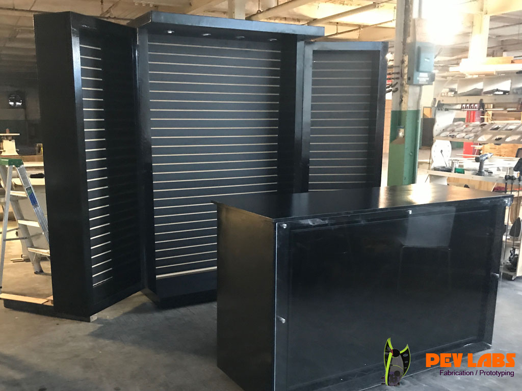 Point of Sale Custom Cabinet with TV Screen