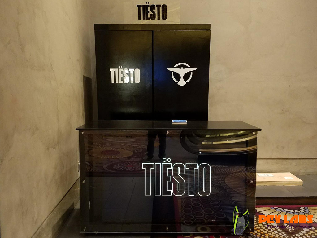 Tiesto Merch Cabinet Delivered in Vegas