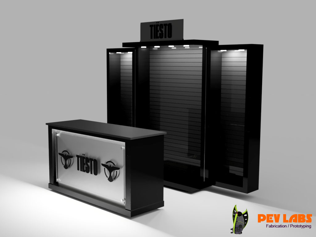 Tiesto Display and Merchandising Cabinetry
