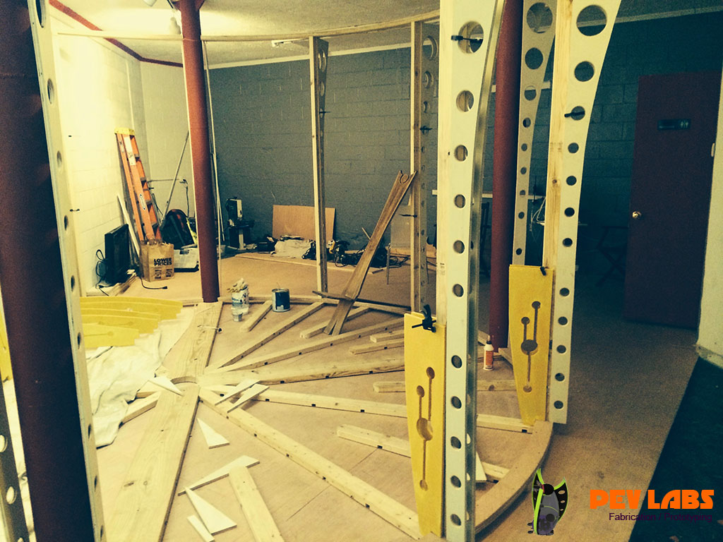 Round Room Framing in Charlottesville VA