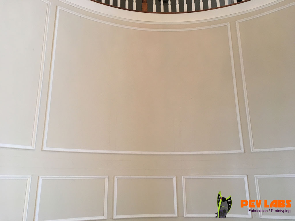 Custom Panel Molding Curved Wall