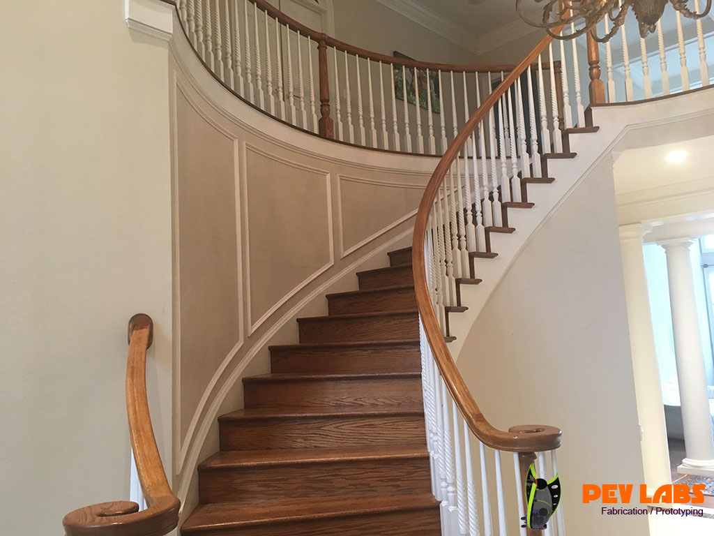 Custom Stairwell Trim Carpenty