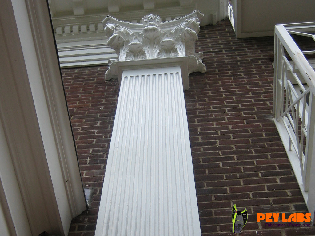 Custom Milled Fluted Pilasters