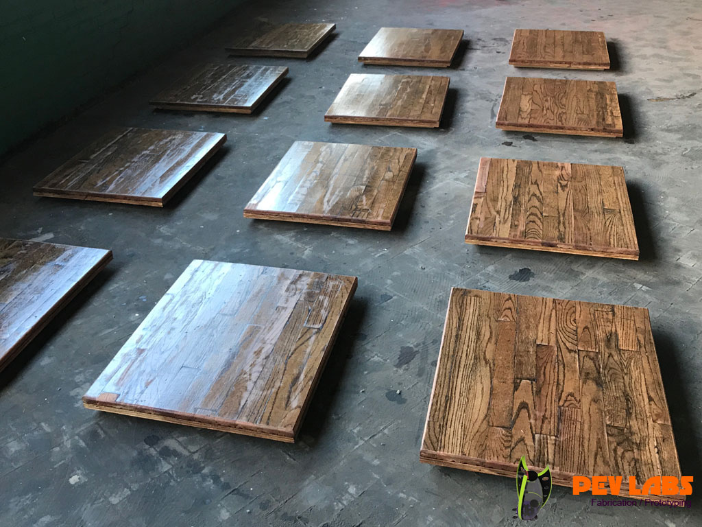 Upcycling Restaurant Flooring into Tables