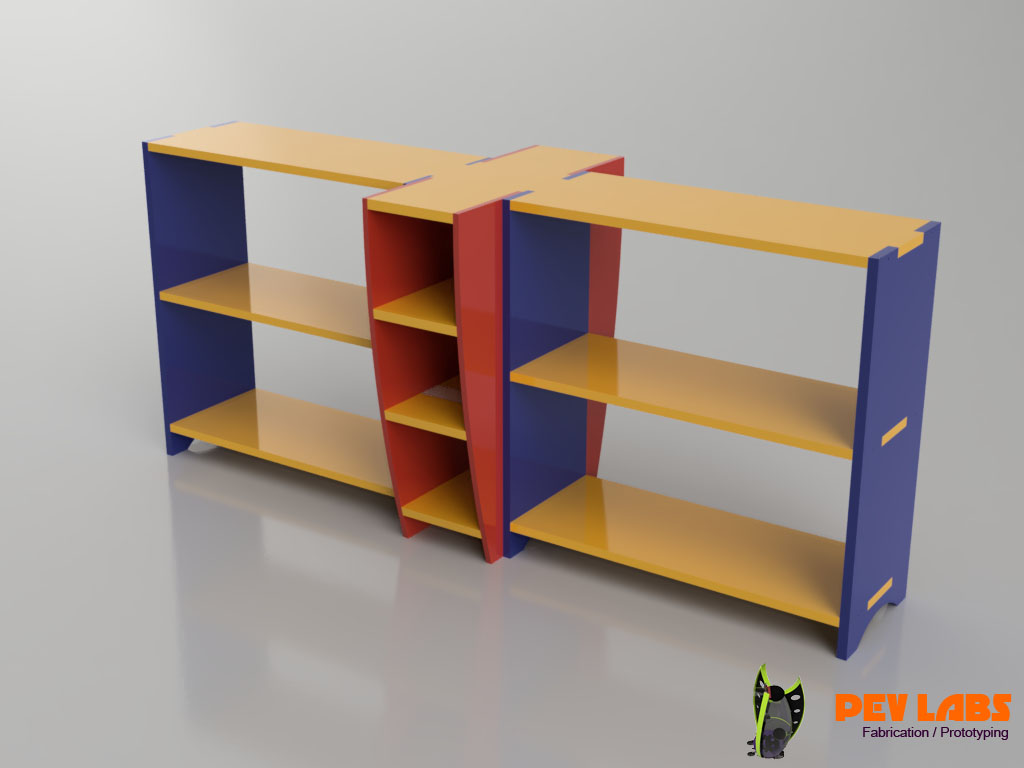 Flat-Pack Shelving Table Base