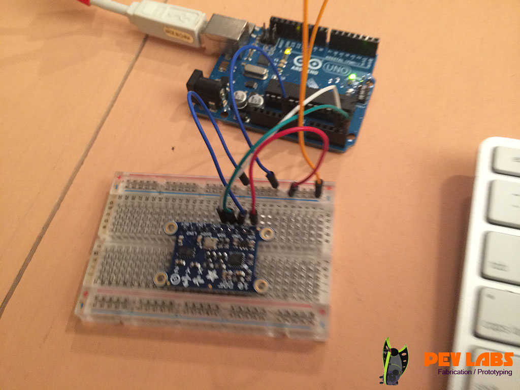 Arduino with 3-Axis Sensor