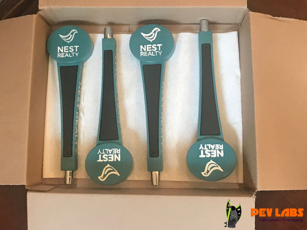 Beer Tap Handles for Nest Realty in Charlottesville Virginia