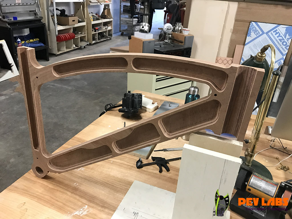 CNC Milling of Wooden E-Bike Prototype