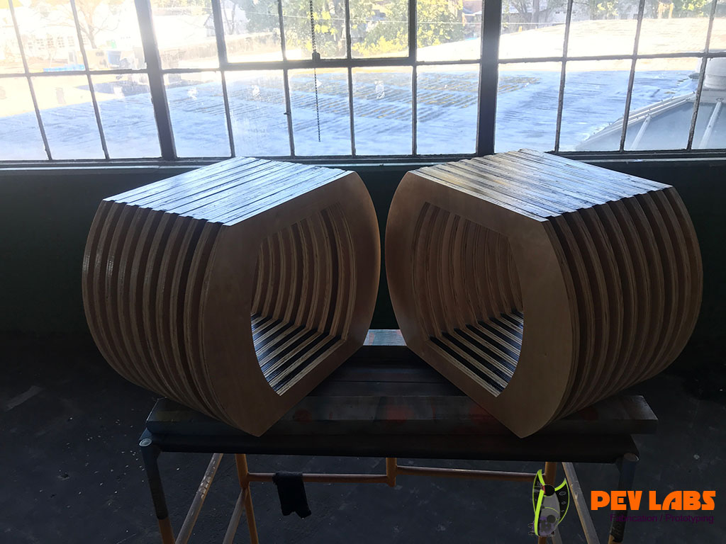 Benches Plywood Pair