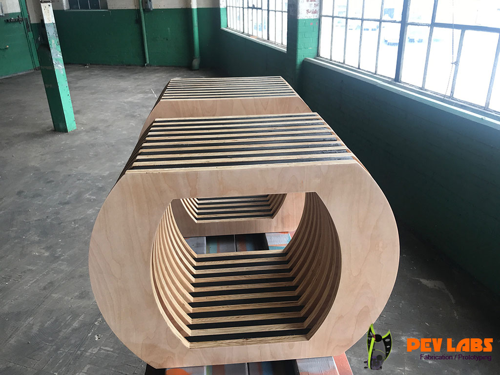 Parametric Plywood Benches