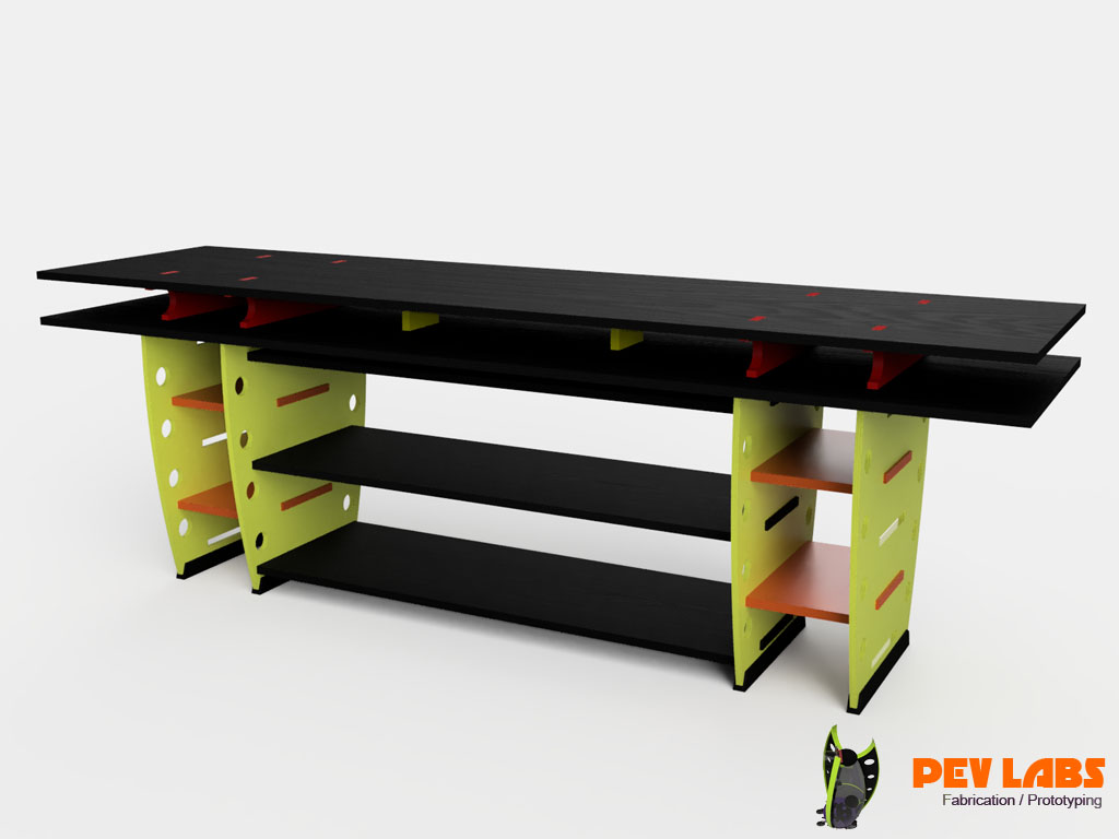 Flat-Pack Workbench Isometric View