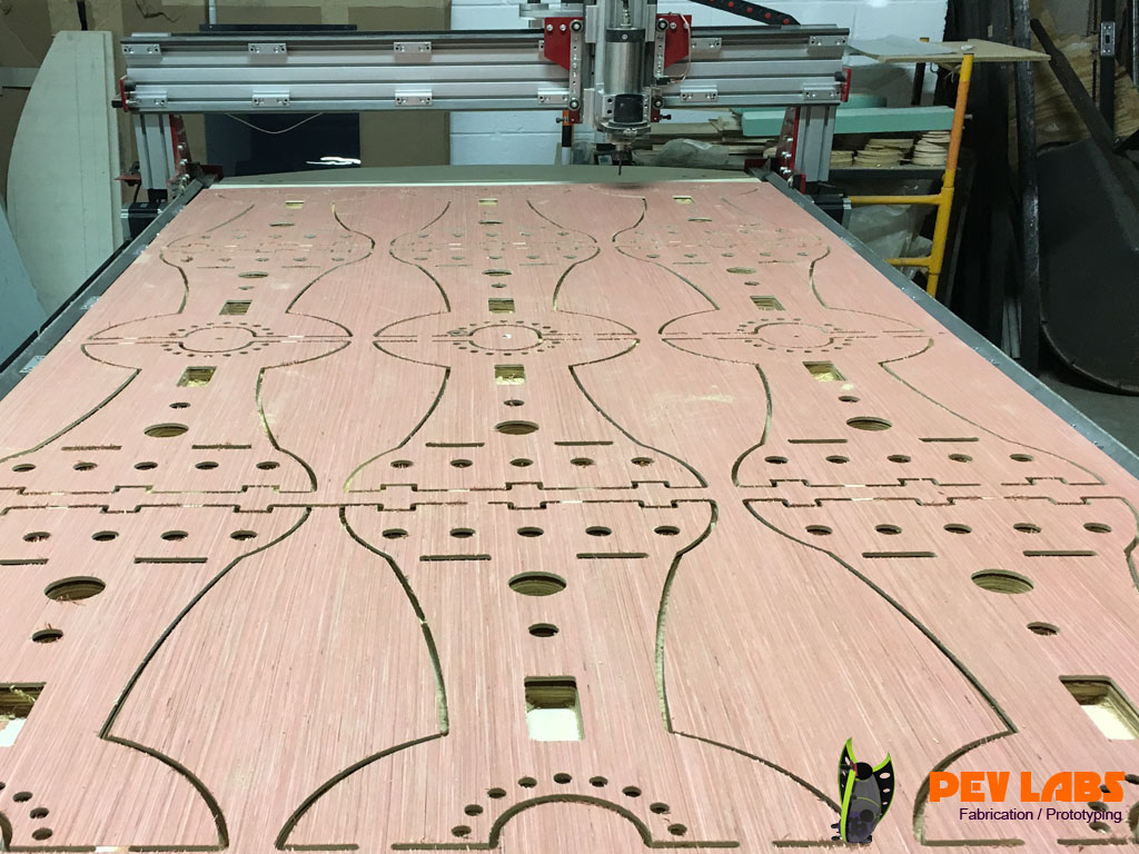 CNC Milling Flatpack Plywood Parts