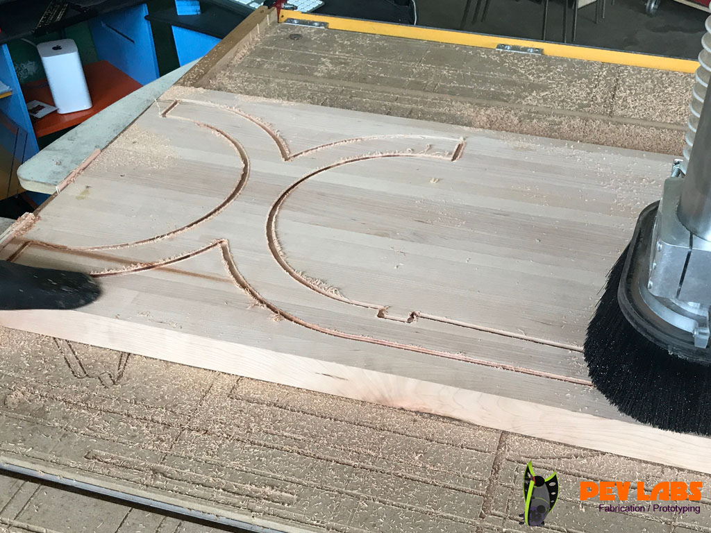 Milling Furniture Wood with CNC
