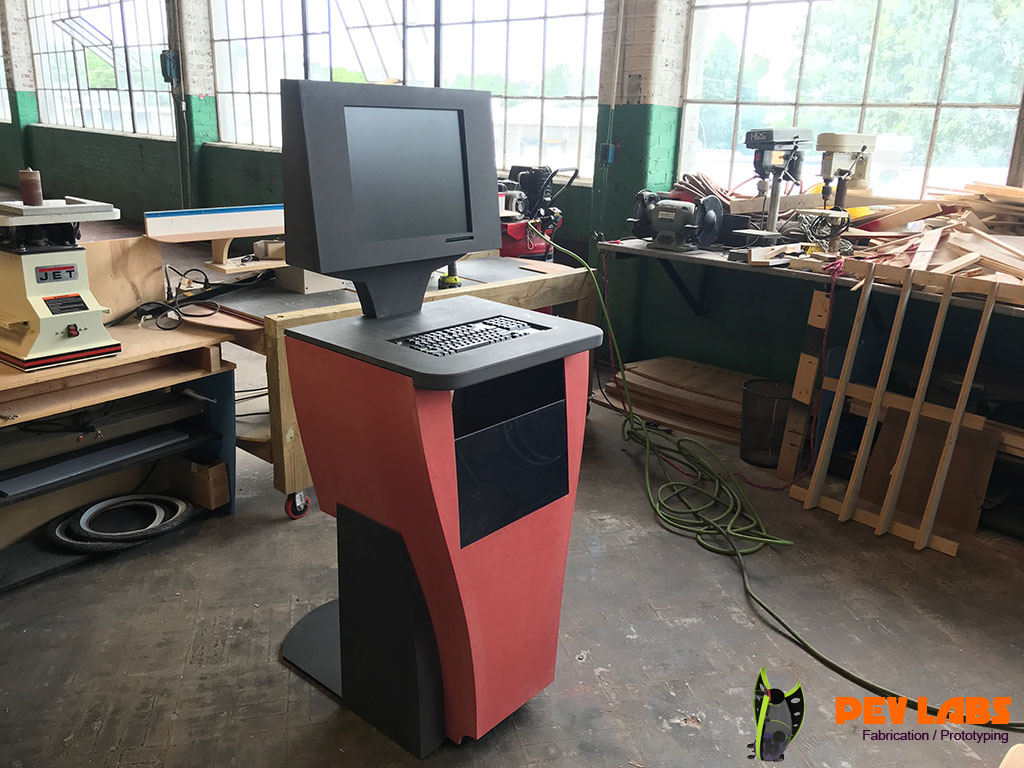 Custom Designed Kiosk in Color-Core MDF