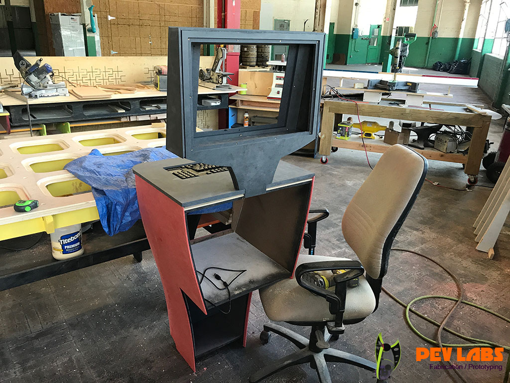 Kiosk Rear Side Assembly