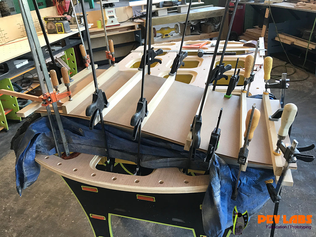 Panel Glue Up on form